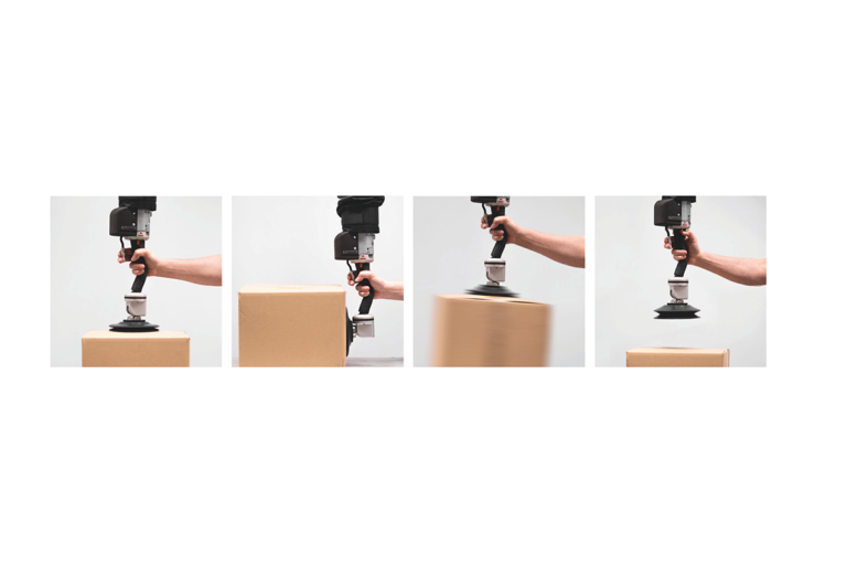 Snabb vakuumlyft - lyft tilt grip släpp med skonsam vakuumlyftare - Movomech Easyhand Pro Rapid - Lyfthjälp - Lyfthjälpmedel industri och logistik