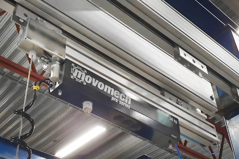 Vajerlyft - vajerlyftare - vajertelfer - Mechline Pro - Movomech - ergonomiska lyftmanipulatorer