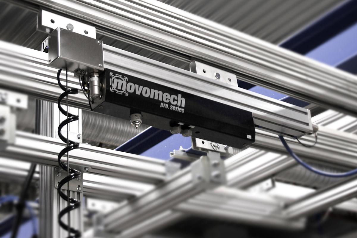 Pneumatisk balanslyftare med lyftvajer, vajerlyftare Mechline Pro - Movomech