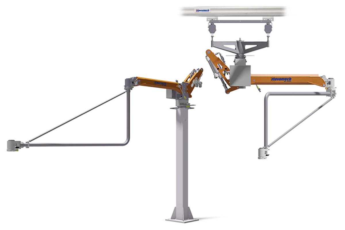 Lyfthjälpmedel industri - Pneumatisk lyftmanipulator Mechspace Pro Movomech