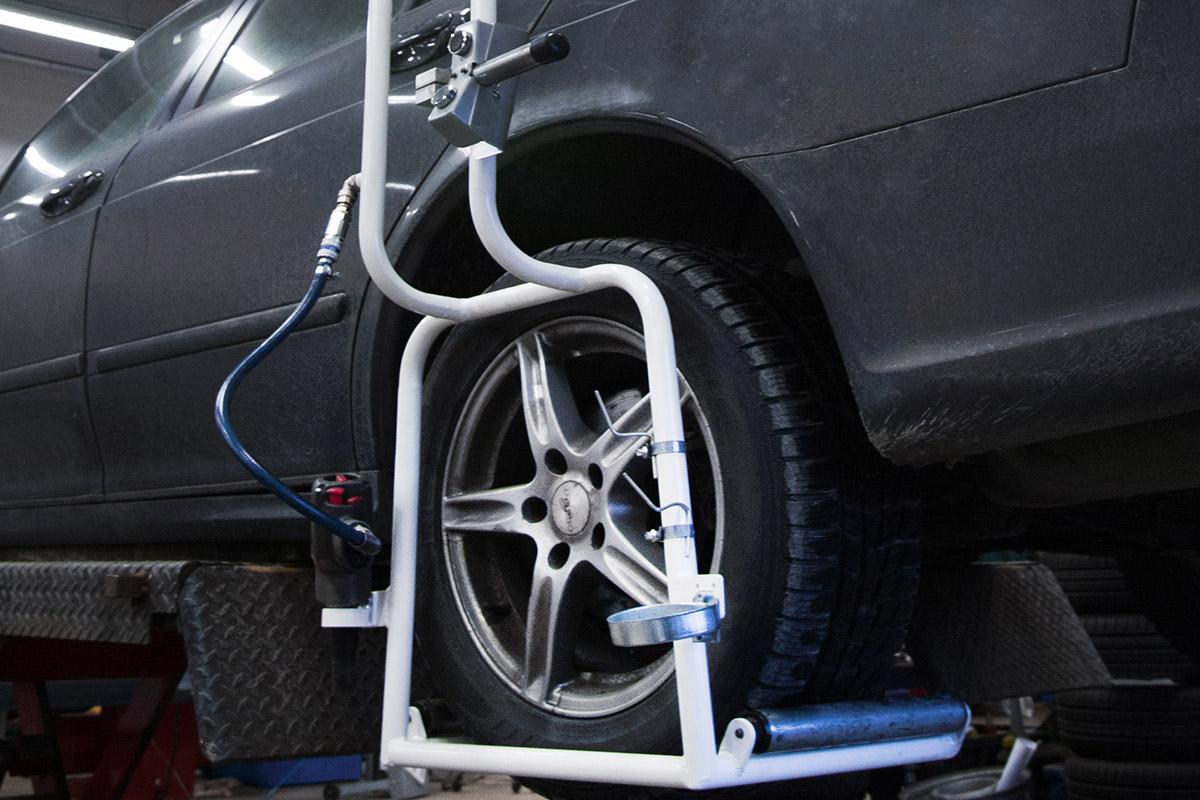 hjulhantering, hjullyft, lyfta hjul och däck