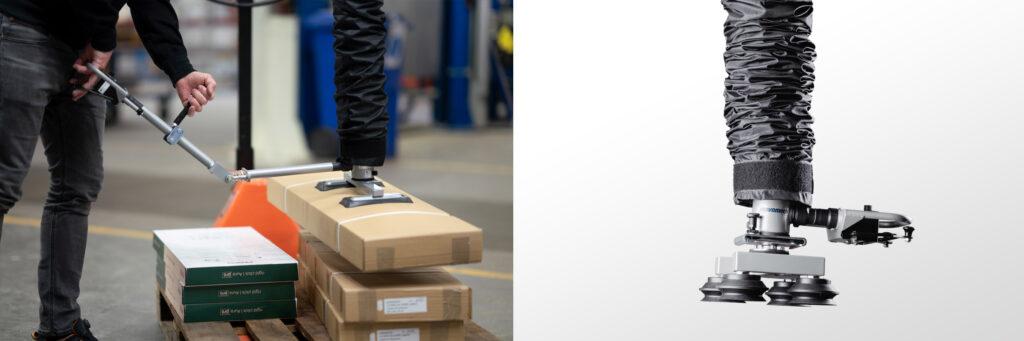 Vakuumlyftare med handtag för kartonglyft Movomech Easyhand M - vacuum lifter